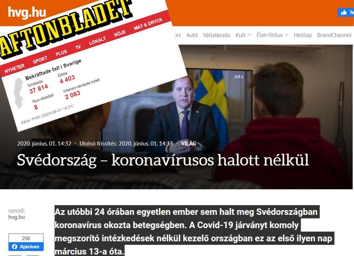Vajon miért hamisít svéd járványügyi adatokat a HVG?!